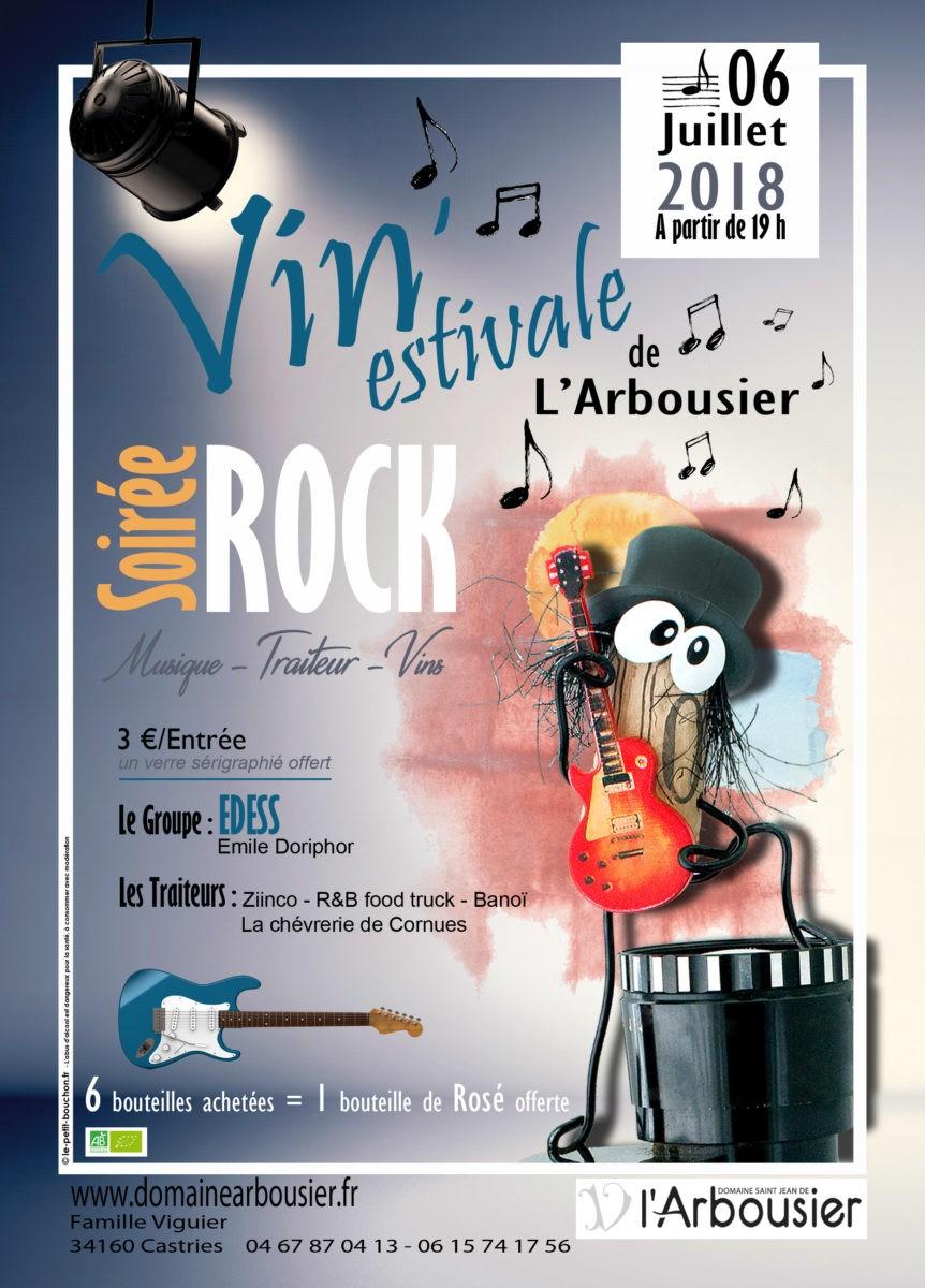 Vin'estivale spéciale Rock - 2018 - Evenement domaine viticole Montpellier - Oenotourisme Hérault